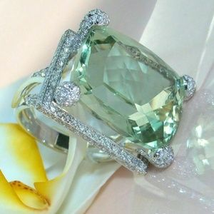 925 Silver Jewelry Women Wedding Engagement Ring